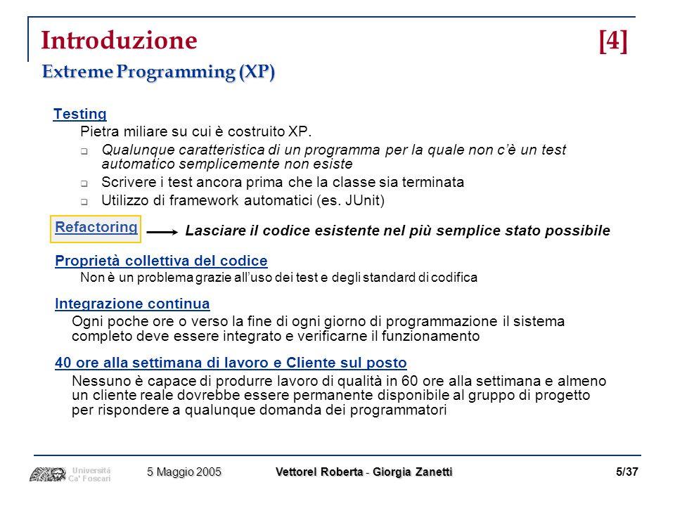 Introduzione [4] Extreme Programming (XP)